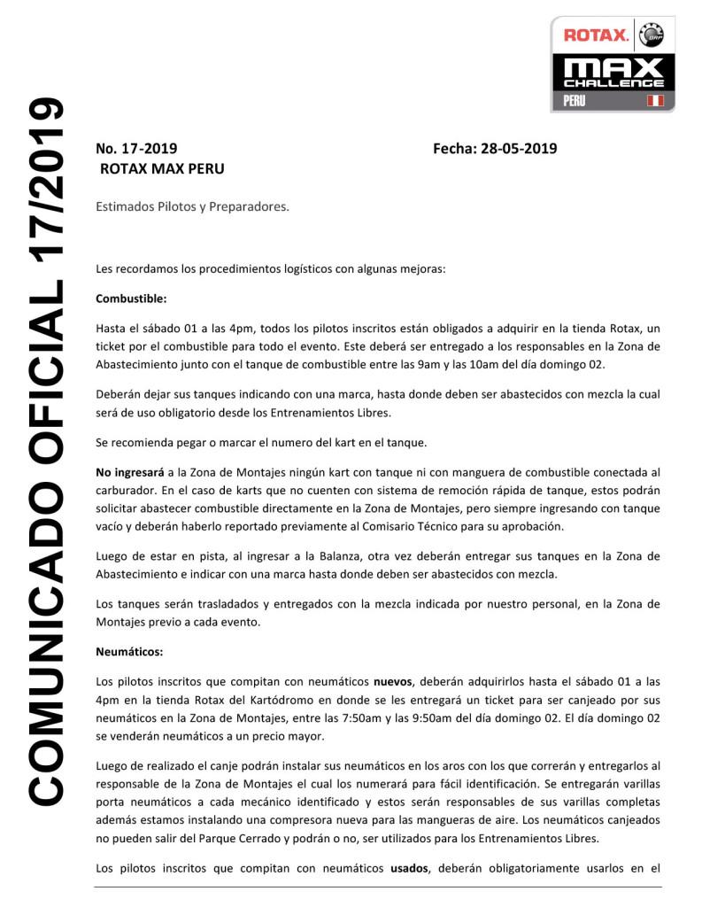 Microsoft Word - comunicado gasolina y neumaticos 17-2019.doc
